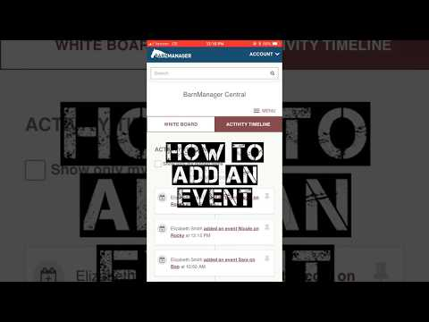 How To: Add an Event