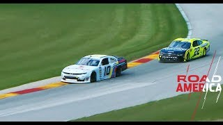 Austin Cindric und AJ Allmendinger Kontakt: NASCAR Xfinity Series in Road America
