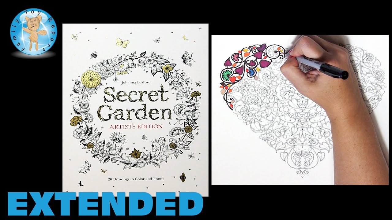 Secret Garden Artists Edition Johanna Basford Adult Coloring Book Heart Extended Family Toy Report