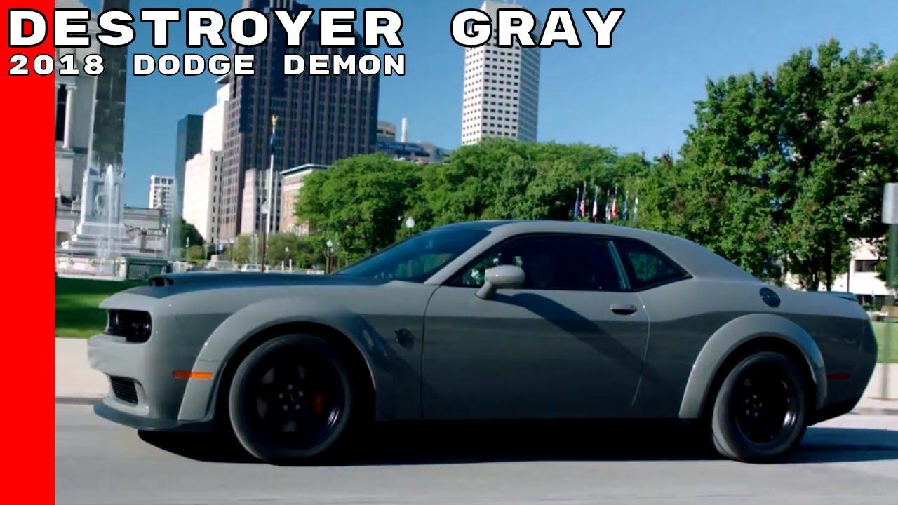 Destroyer Grey Challenger >> Destroyer Gray 2018 Dodge Demon - YouTube