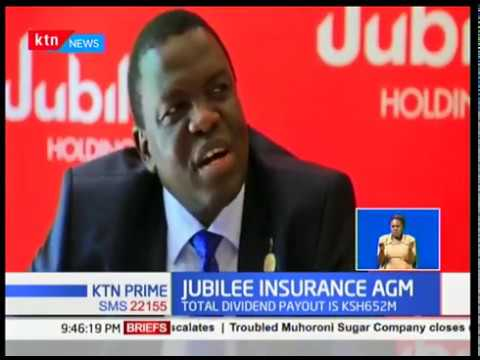 Jubilee Insurance Declares Sh 9 Per Share Dividend Youtube
