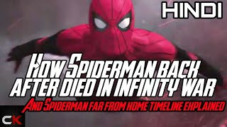 HOW SPIDERMAN BACK AFTER DIED IN INFINITY WAR AND FAR FROM HOME TIMELINE EXPLAINED IN [ HINDI]