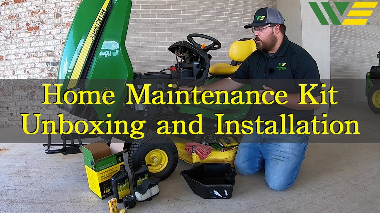 John Deere Lawn Mower Home Maintenance Kit | Unboxing and Installation