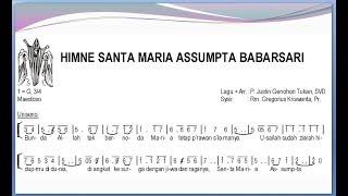 himne sta maria assumpta babarsari satb – teks kor lagu rohani not angka