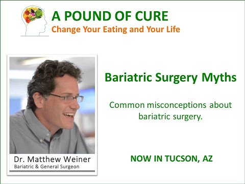 Bariatric Surgery Myths – Dr. Matthew Weiner addresses common misconceptions about Bariatric Surgery