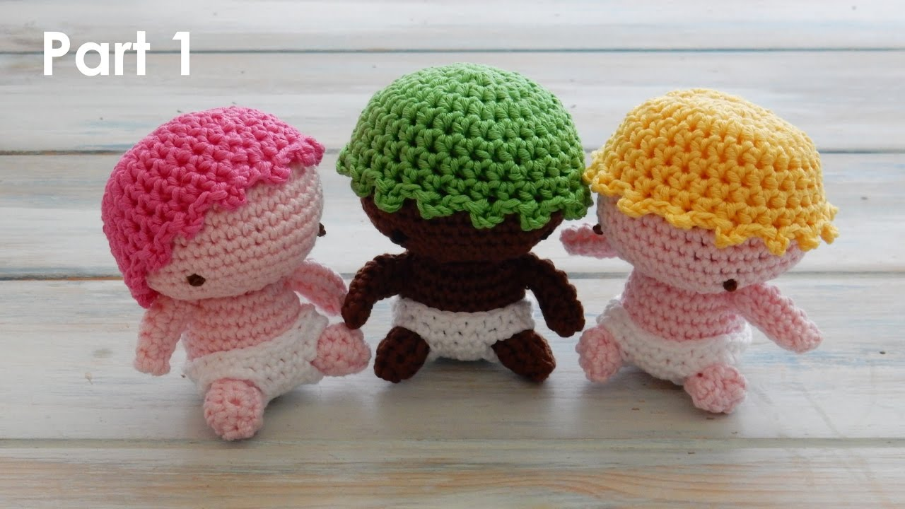 Amigurumi Baby : How to crochet my amigurumi baby pt youtube