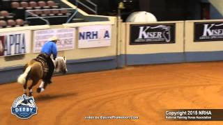 Wimpys Little Freckl - ridden by Peter Defreitas - 2015 NRHA Derby Open Derby (Sec. 2)