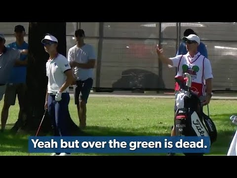 Kevin Na Squabbles With Caddie and Then Drains Birdie!