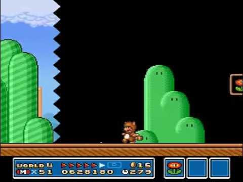TAS Super Mario All-Stars Super Mario Bros. 3 SNES in 66:46 by Genisto