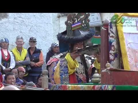 Mask Dance in Tiji Festival , Lo manthang, Upper Mustang  Eco Holiday Asia