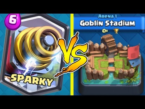 SPARKY TROLLING ARENA 1 | Clash Royale Funny Moments, Wins, Trolling & Legendary Arena 1 Gameplay