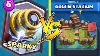 SPARKY TROLLING ARENA 1 | Clash Royale Funny Moments, Wins, Trolling u0026 Legendary Arena 1 Gameplay