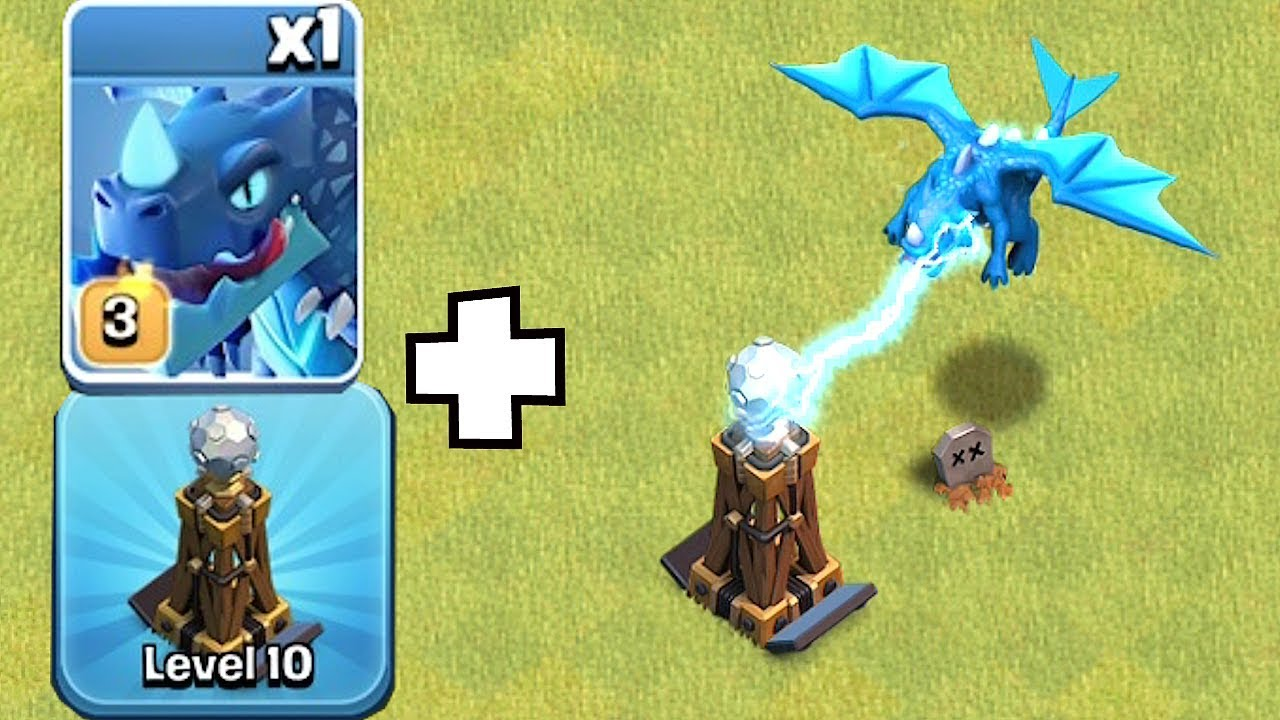 "POWER UP MY TESLA WITH E DRAGONS!! ""Clash Of Clans"" ALL E DRAGON RAID!!"