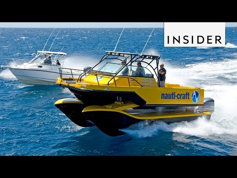 Nauti-Craft boat hydraulic suspension can handle any wave