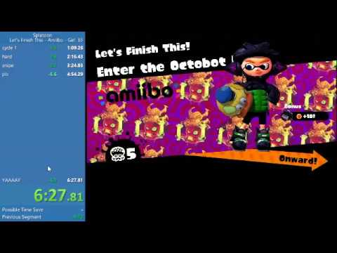 Splatoon 1 Let's Finish This! (Boss 5) Squid Girl Amiibo World Record 6m 27s 633ms By Conmangamer22