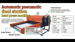How to install mecolour A067 Pneumatic double station heat press machine