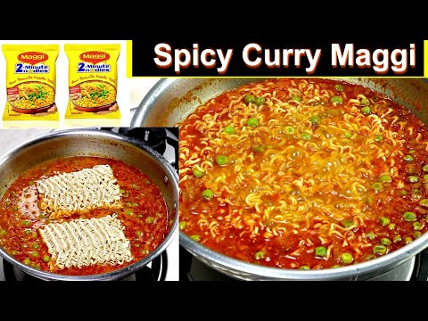Spicy Curry Maggi Recipe | Masala Maggi Recipe | How to make tasty Maggi | Kabitaskitchen