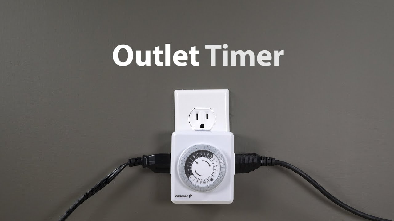 How to use a Fosmon Household Outlet Timer for indoor lighting and ...
