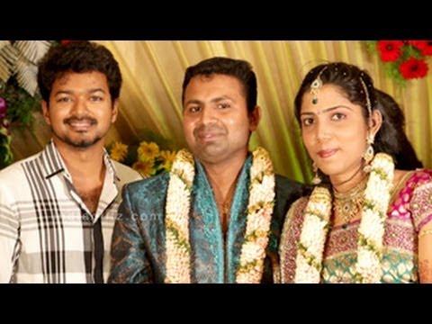 Vijay At Actor Thambi Ramaiah Daughter S Wedding Reception Ner Santhanam Siva Karthikeyan You