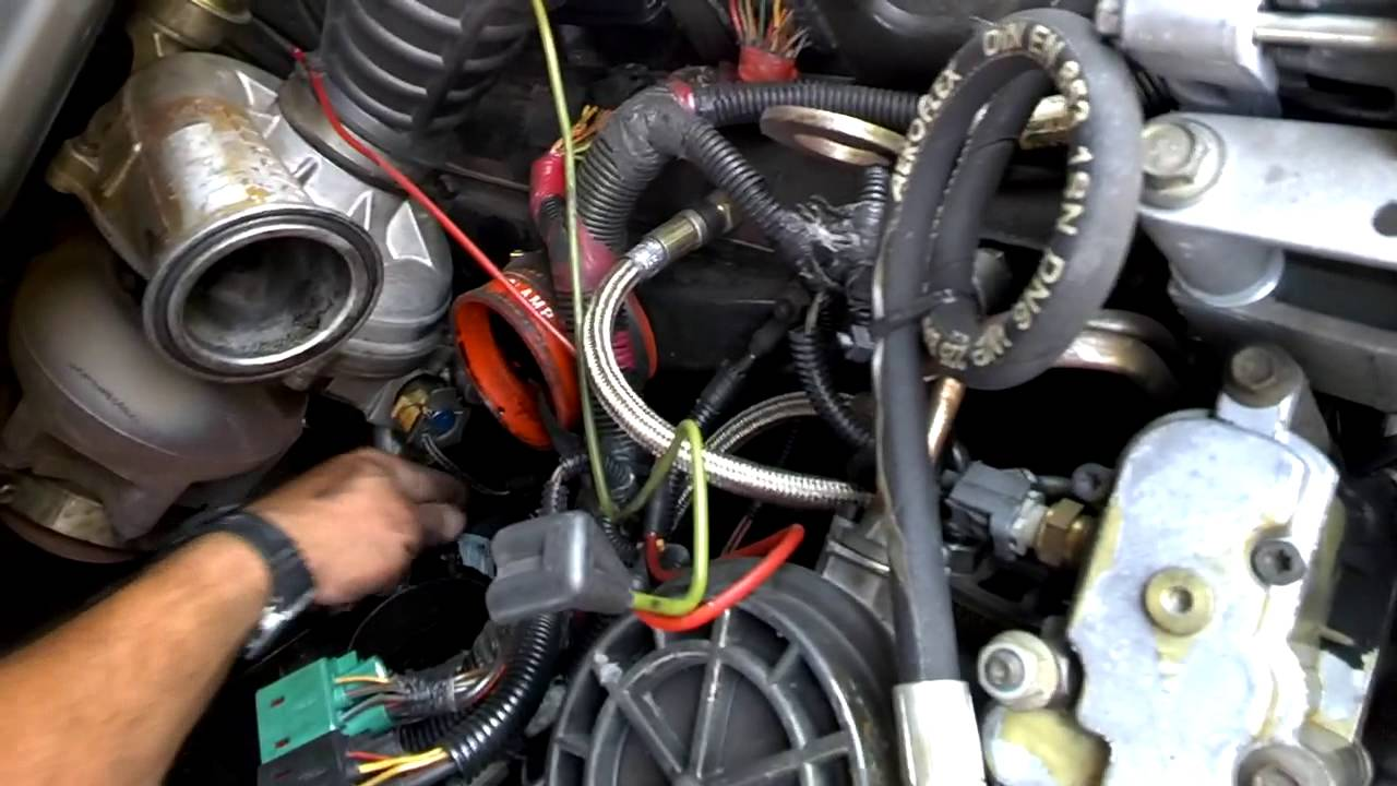 2002 FORD F350 DIESEL CHANGING A FUEL LINE