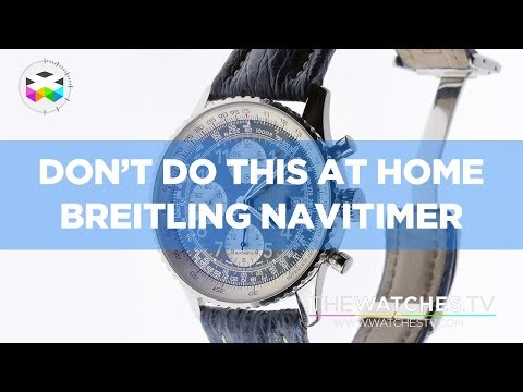 Don't Do This At Home: Breitling Navitimer & Valjoux 7750 Caliber