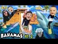 SHARKS IN THE WATER SLIDE Mike S Leap Of Faith Atlantis FUNnel Vision Bahamas Trip Part 2 mp3