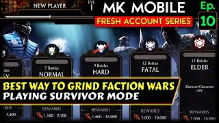 MK Mobile Fresh Acc๐unt Series Ep. 10. Trying to Beat Normal Tower in Survivor Mode. Tips and Tricks