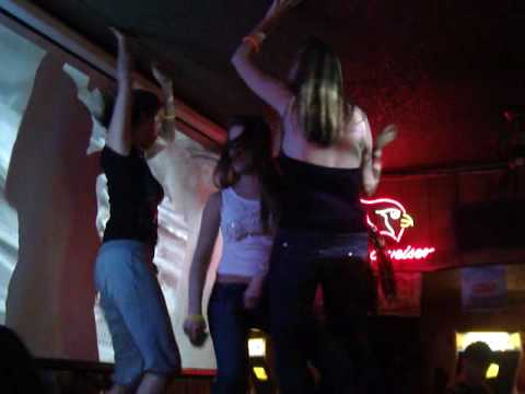 3 Girl Friends dancing on a table