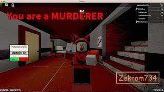 Roblox, Twisted Murder, iWin comme assassiner / shérif / innocent