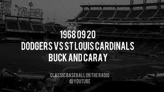1968 09 20 Los Angeles Dodgers vs St Louis Cardinals Baseball