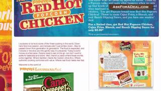 Popeyes Chicken Coupons(Learn guitar chords for FREE through our new game Chord Master: http://bit.ly/ChordMasterYT Ask Popeyes for a deal: http://askforadeal.com Ask For a Deal ..., 2011-02-08T03:29:36.000Z)