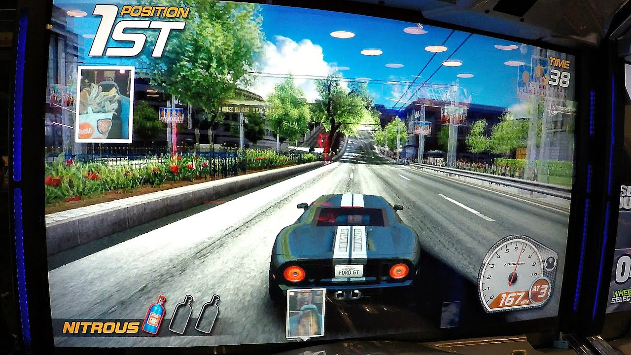 Dead Heat Car Racing Arcade Game Video Four Great Races Against