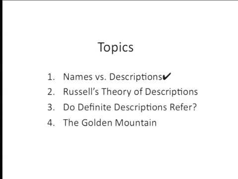 Philosophy 135   Lecture 05   Russell