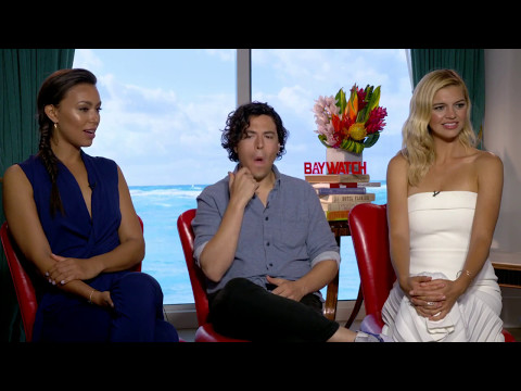 Fun with Ilfenesh Hadera, Jon Bass and Kelly Rohrbach Baywatch Full interview
