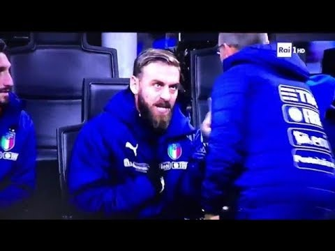 De Rossi you gets angry with Ventura | Italy - Sweden 0-0