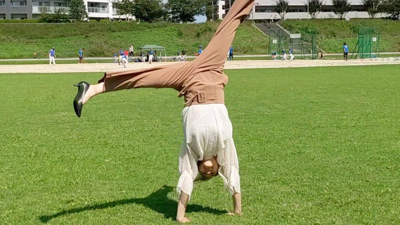 公園でも私服で体操しちゃう女 #Short