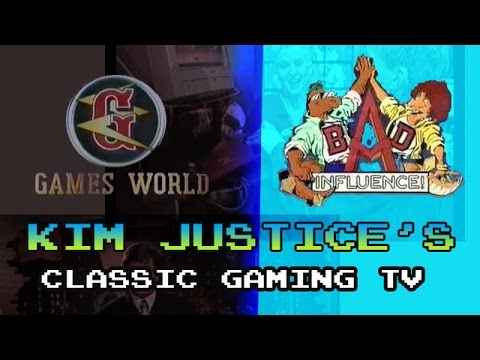 Games World and Bad Influence! - Kim Justice's Classic Gaming TV Review