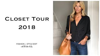 Closet Tour Summer 2018 | Take a look inside my wardrobe & try on