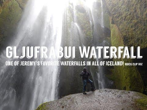 Gljúfrabúi Waterfall in Iceland! Travel Quick Clip #2