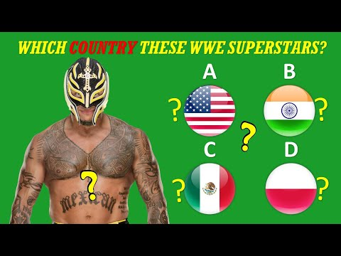 WWE QUIZ - Can Guess The Birthplaces/Countries Of WWE Superstars 2020?