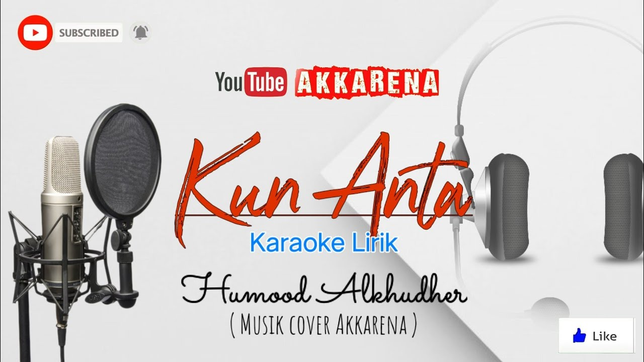 KUN ANTA (KARAOKE) - HUMOOD (MALE KEY   REGGAE ACOUSTIC VERSION)