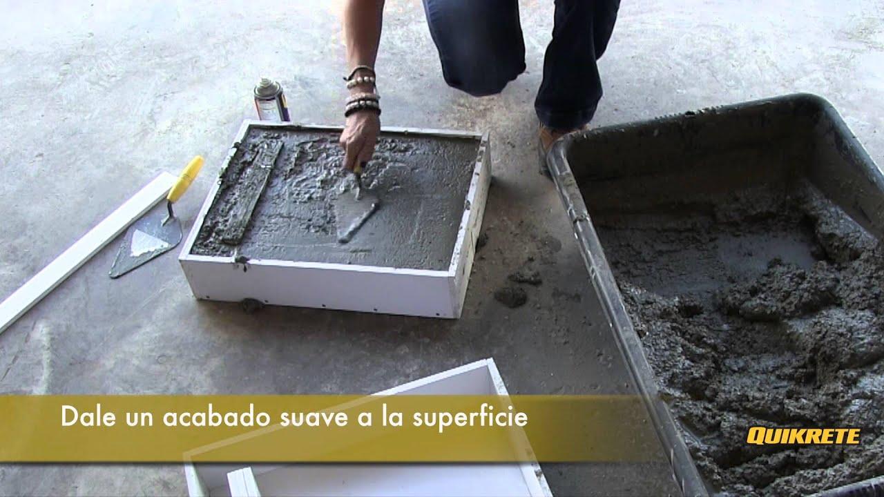 Ideas concretas c mo hacer un banco de concreto y madera for Bancos madera jardin