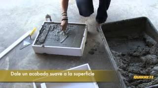 IDEAS CONCRETAS: Cómo hacer un banco de concreto y madera