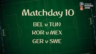 Time for Matchday 10 the FIFA World Cup