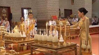 พระบาทสมเด็จพระเจ้าอยู่หัว-สมเด็จพระราชินี ทรงบำเพ็ญพระราชกุศล เนื่องในวันคล้ายวันพระบรมราชสมภพ ร.9