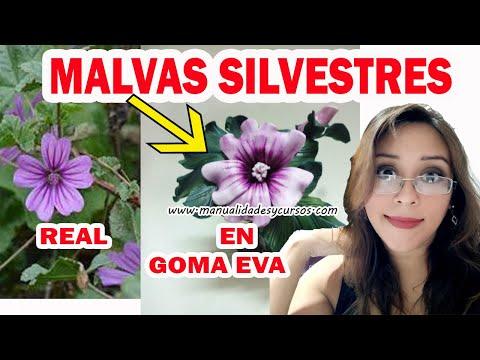 Flores en goma eva paso a paso malva sin utilizar molde youtube - Flores sencillas de goma eva ...