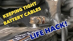 Battery Cable Fix...Annoying loose battery cable fix...free!