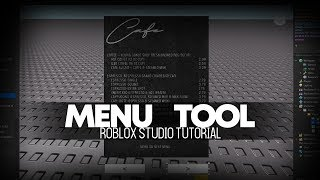 Roblox Tutorial | How to make a Menu Tool