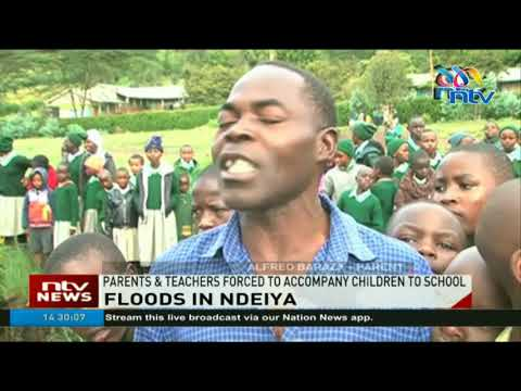 Floods sweep away roads in Limuru; parents forced to accompany children to school