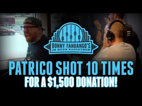 Patrico takes 10 rapid fire airsoft shots for charity! [Rizzuto Show]
